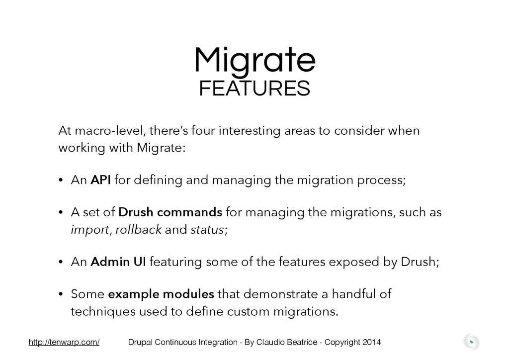 Migrate At macro-level, there's four interestin...