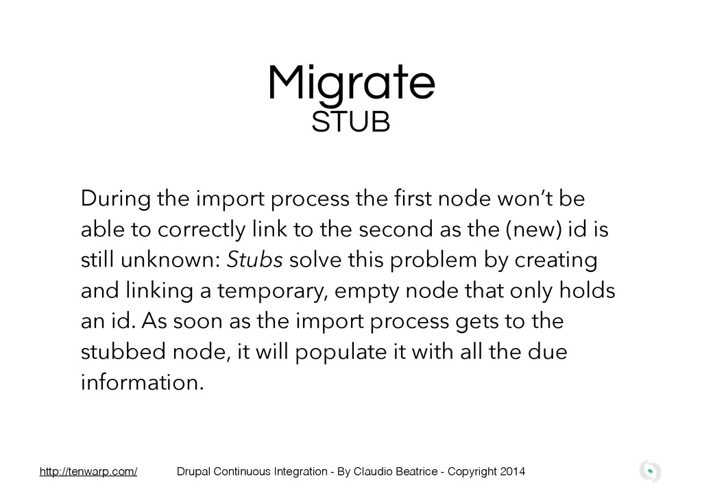 Migrate During the import process the first node...