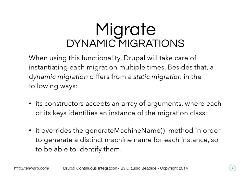 Migrate When using this functionality, Drupal w...