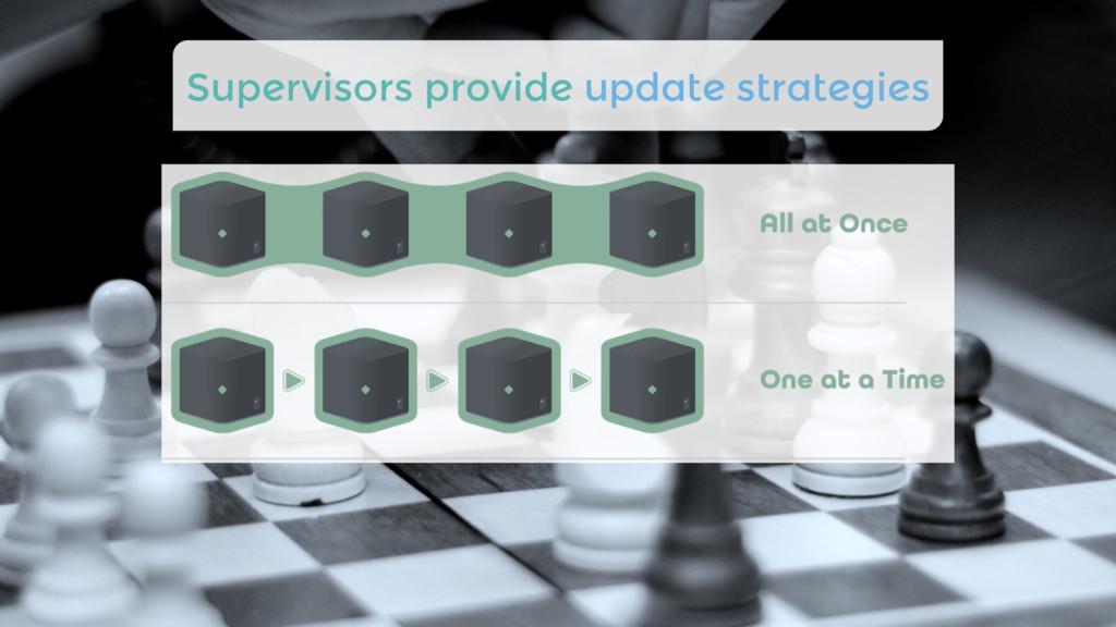 Supervisors provide update strategies