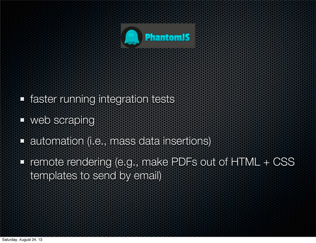 faster running integration tests web scraping a...
