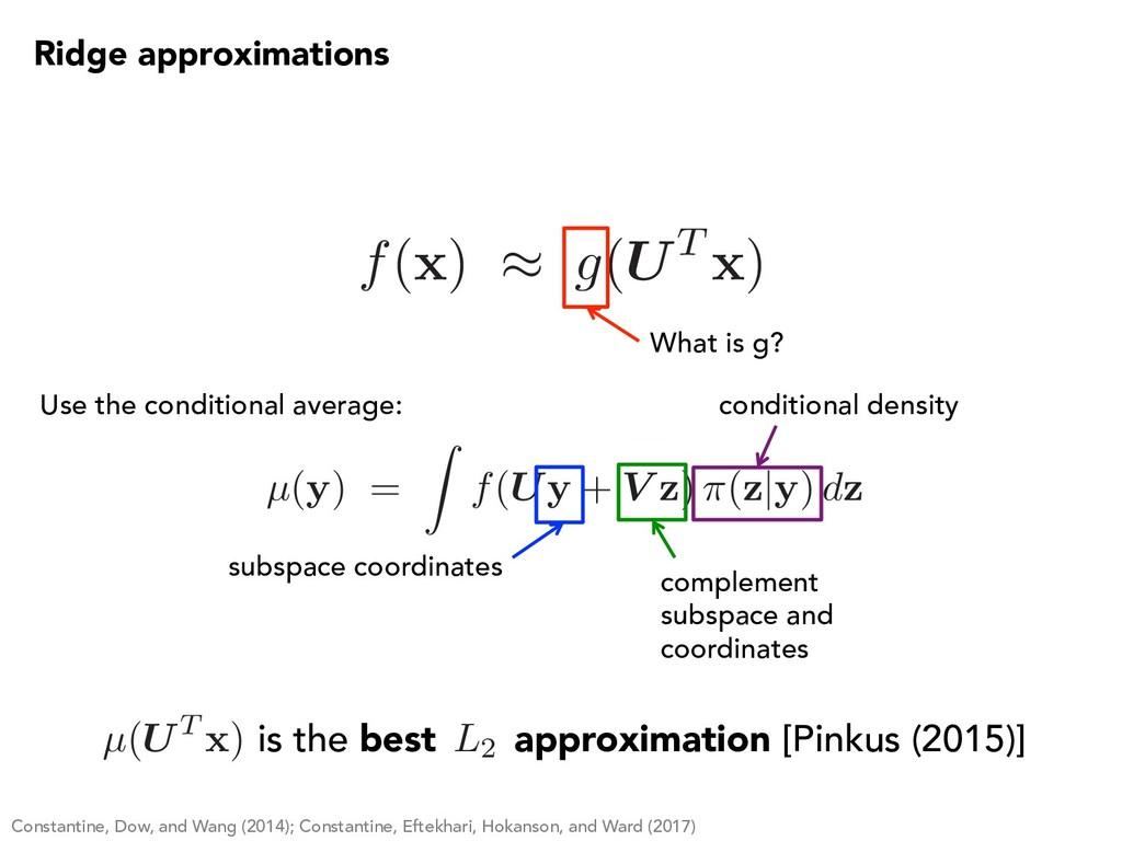µ(y) = Z f(Uy + V z) ⇡(z y) dz f( x ) ⇡ g(UT x ...