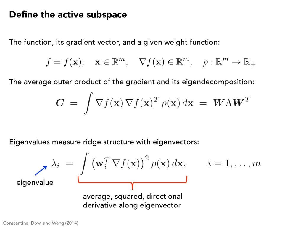 C = Z rf( x ) rf( x )T ⇢( x ) d x = W ⇤W T Defin...