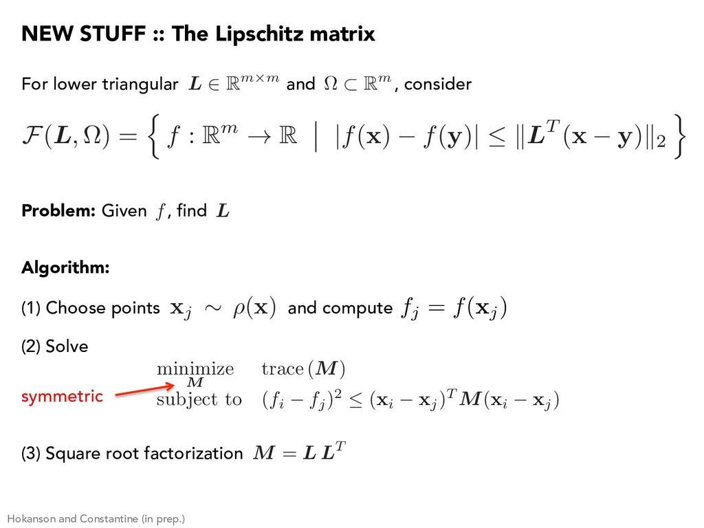 (1) Choose points and compute For lower triangu...