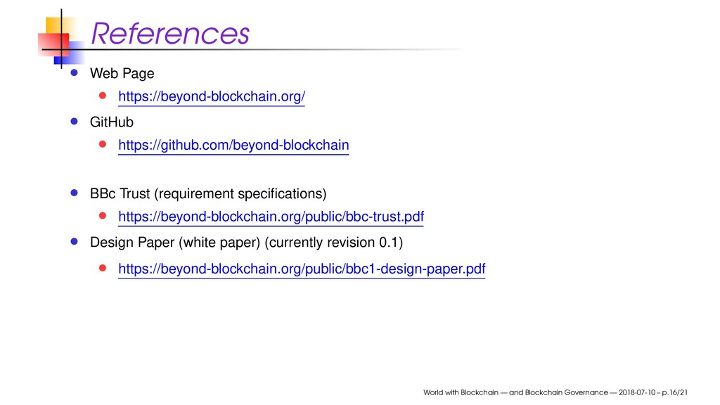 References Web Page https://beyond-blockchain.o...
