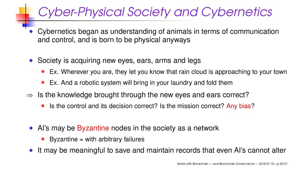 Cyber-Physical Society and Cybernetics Cybernet...