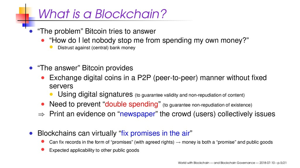 "What is a Blockchain? ""The problem"" Bitcoin tri..."