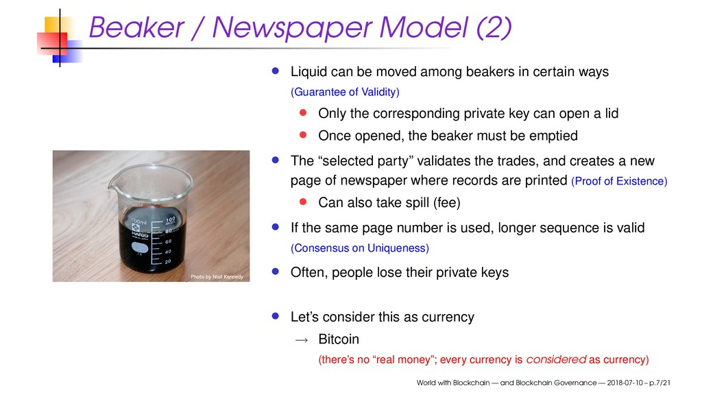Beaker / Newspaper Model (2) Liquid can be move...