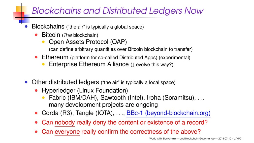 Blockchains and Distributed Ledgers Now Blockch...