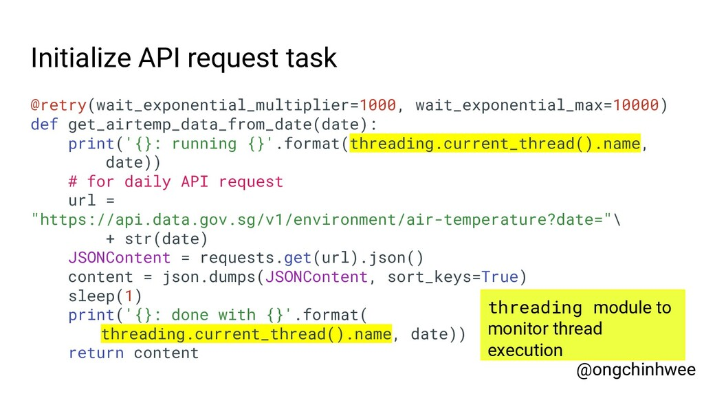 Initialize API request task @retry(wait_exponen...