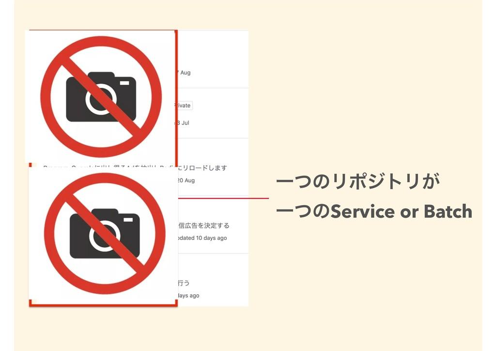ҰͭͷϦϙδτϦ͕ ҰͭͷService or Batch