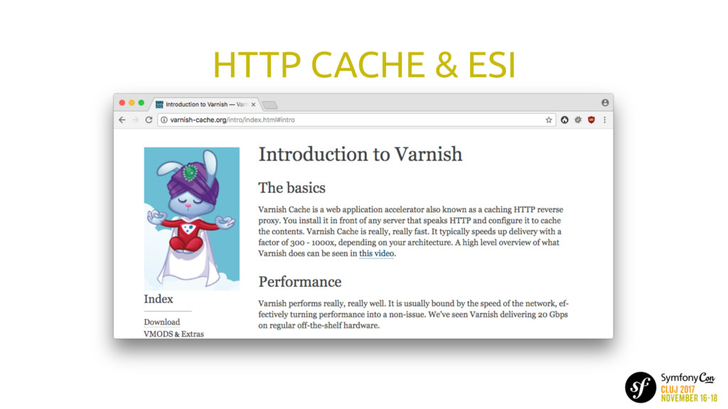 HTTP CACHE & ESI