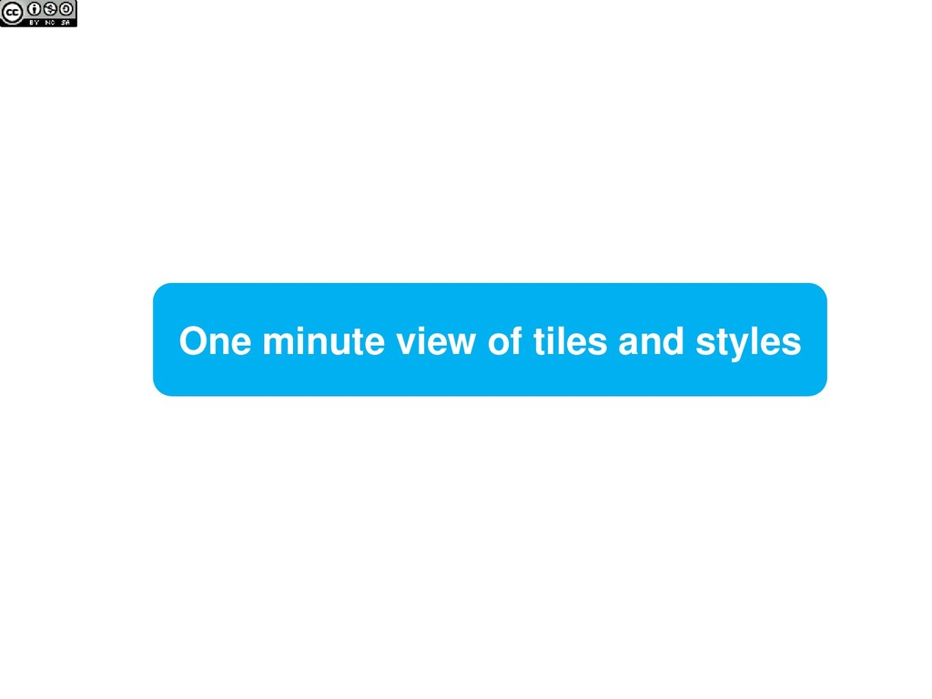 One minute view of tiles and styles