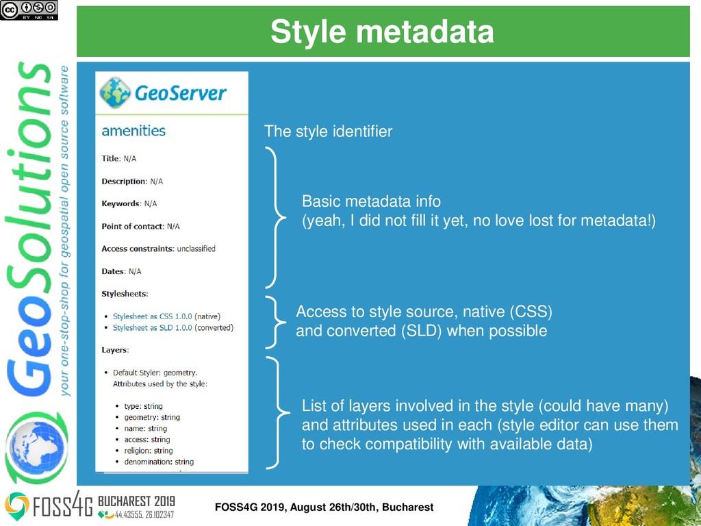 Style metadata FOSS4G 2019, August 26th/30th, B...