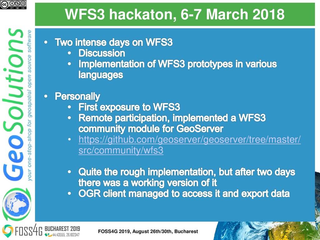 WFS3 hackaton, 6-7 March 2018 • https://github....