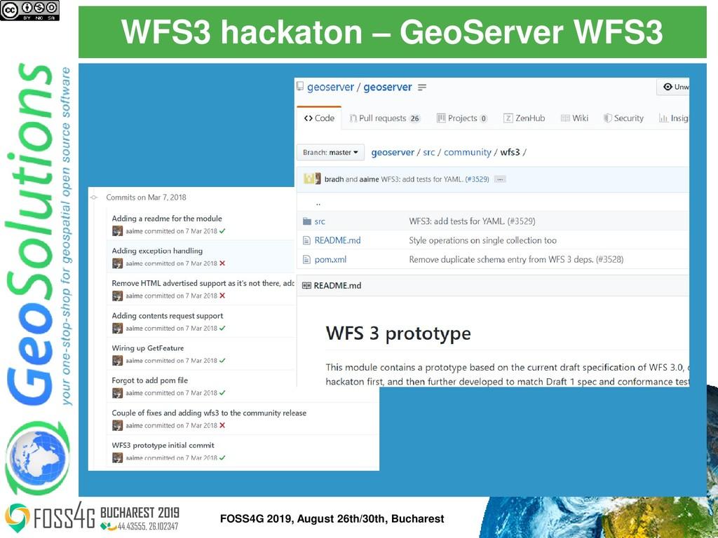 WFS3 hackaton – GeoServer WFS3 FOSS4G 2019, Aug...
