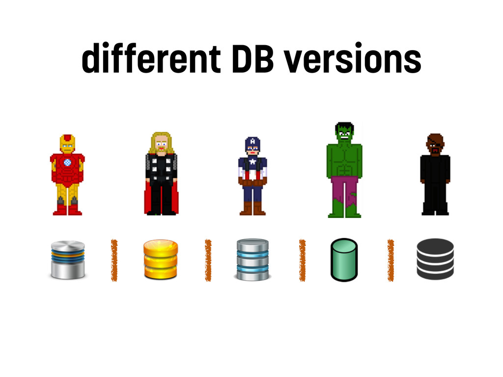 different DB versions