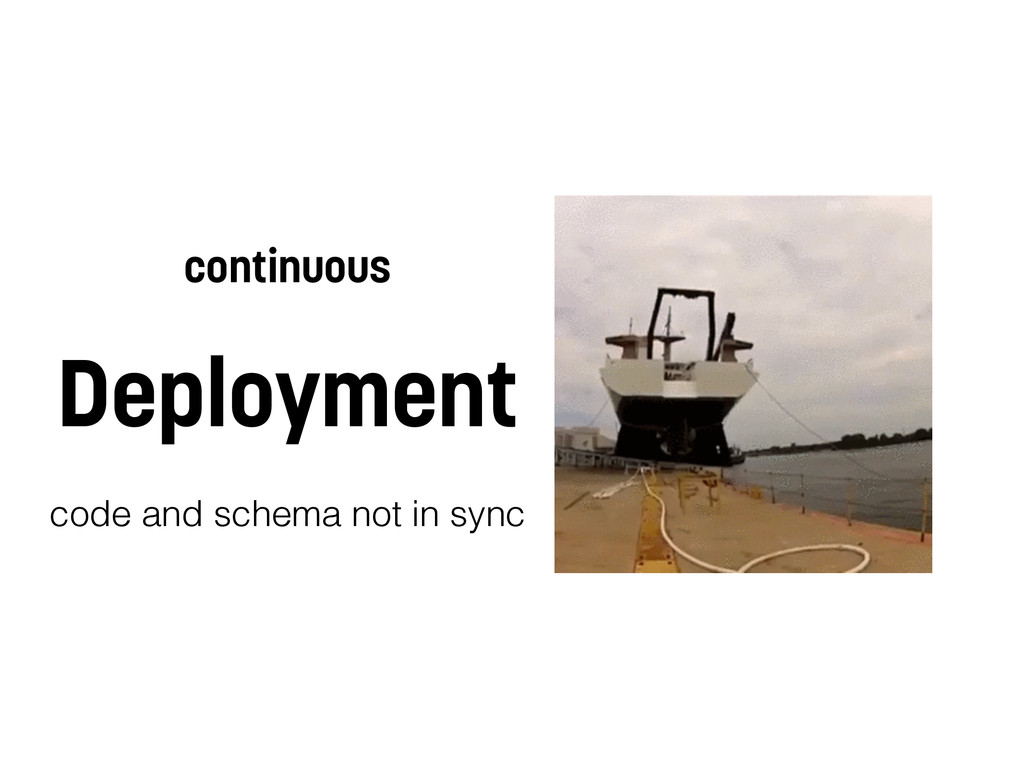 continuous Deployment code and schema not in sy...