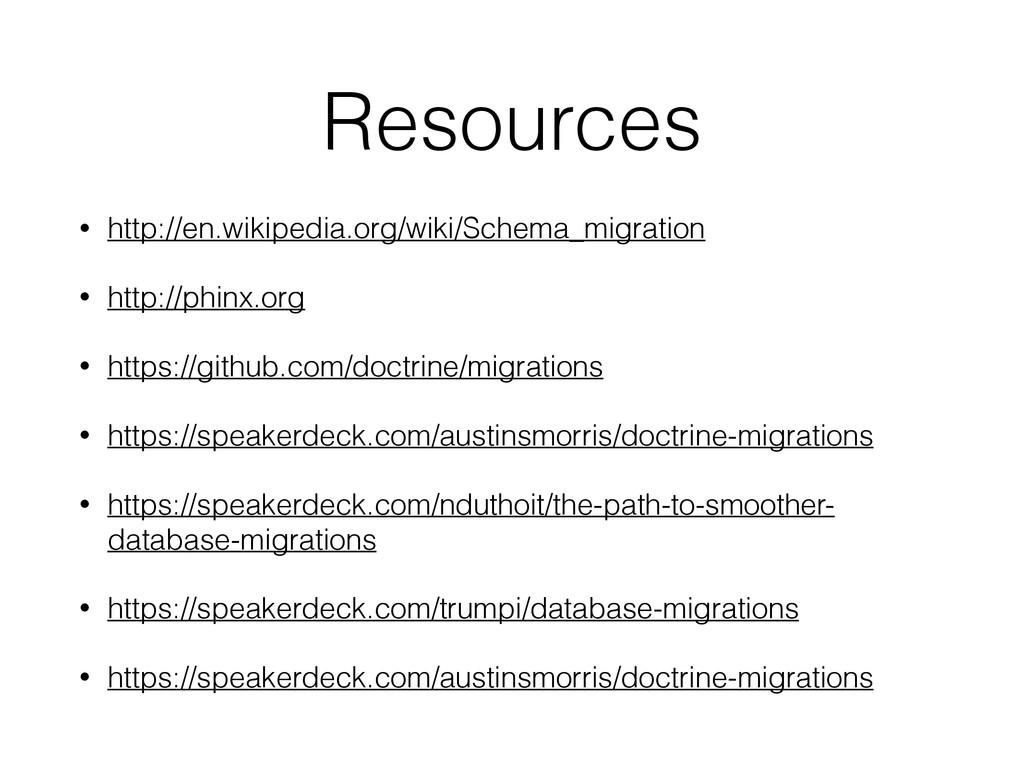 Resources • http://en.wikipedia.org/wiki/Schema...