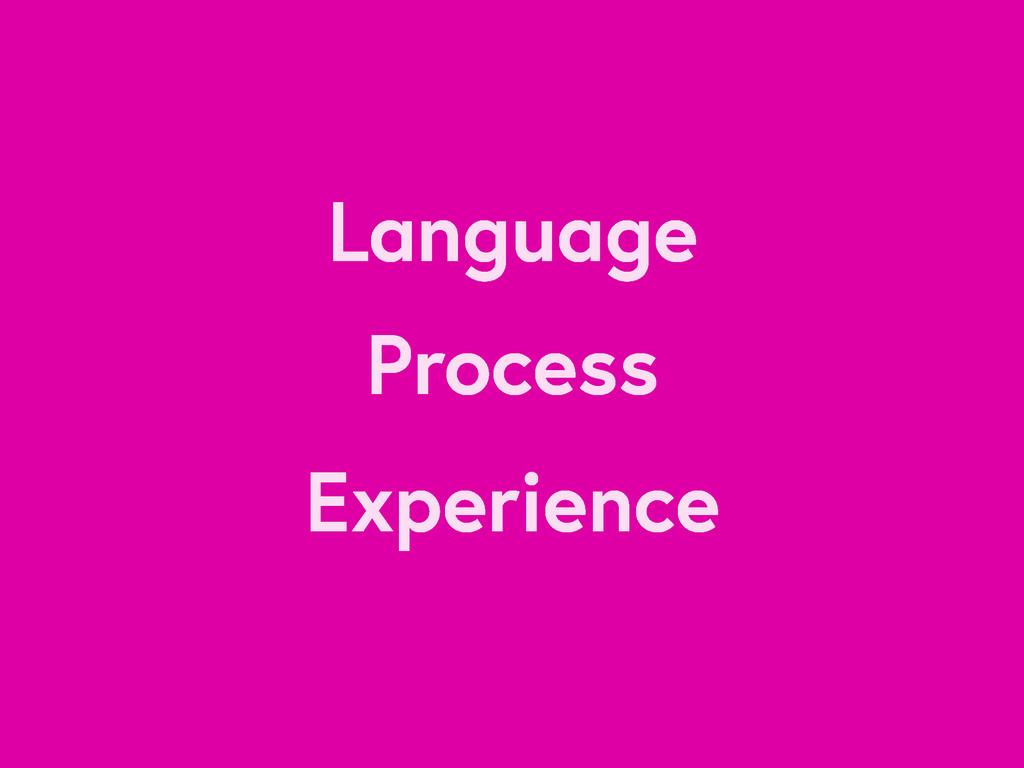 Language Process Experience