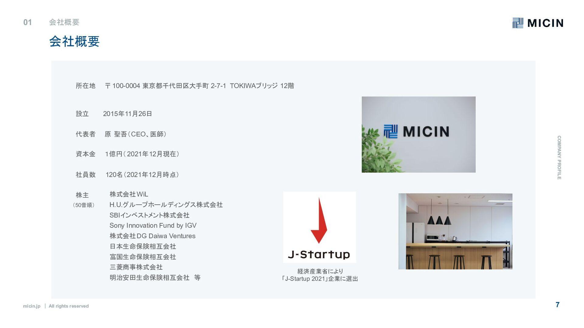 micin.jp ʛ All rights reserved 7 会社概要 C O M PA ...