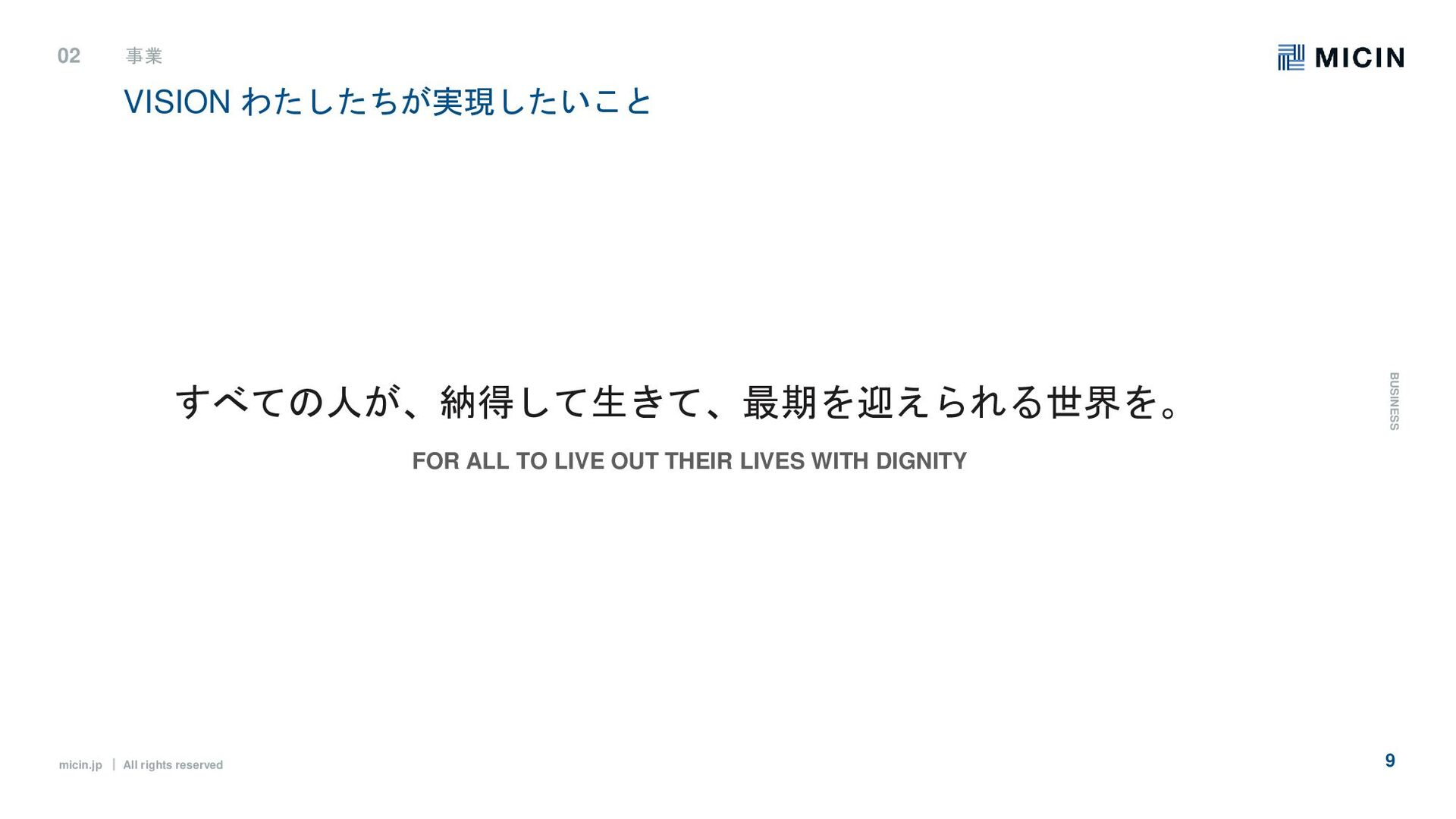 micin.jp ʛ All rights reserved 9 VISIONɹΘ͕࣮ͨͨͪ͠...