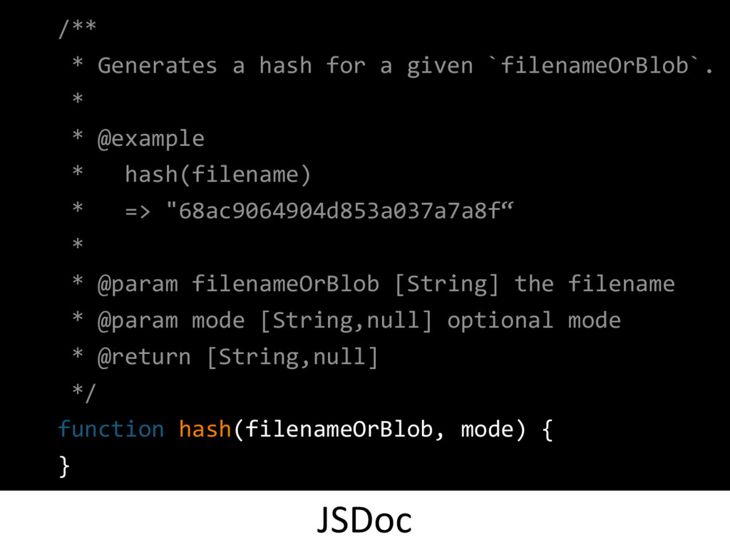 /** * Generates a hash for a given `filenameOrB...