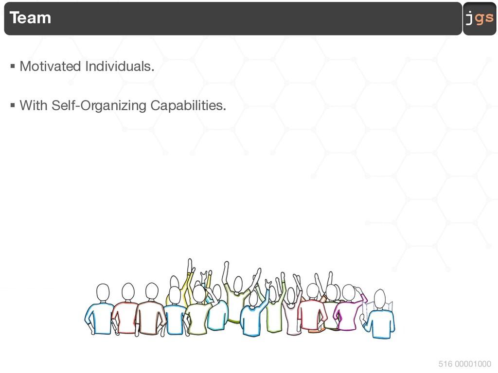 jgs 516 00001000 Team § Motivated Individuals. ...