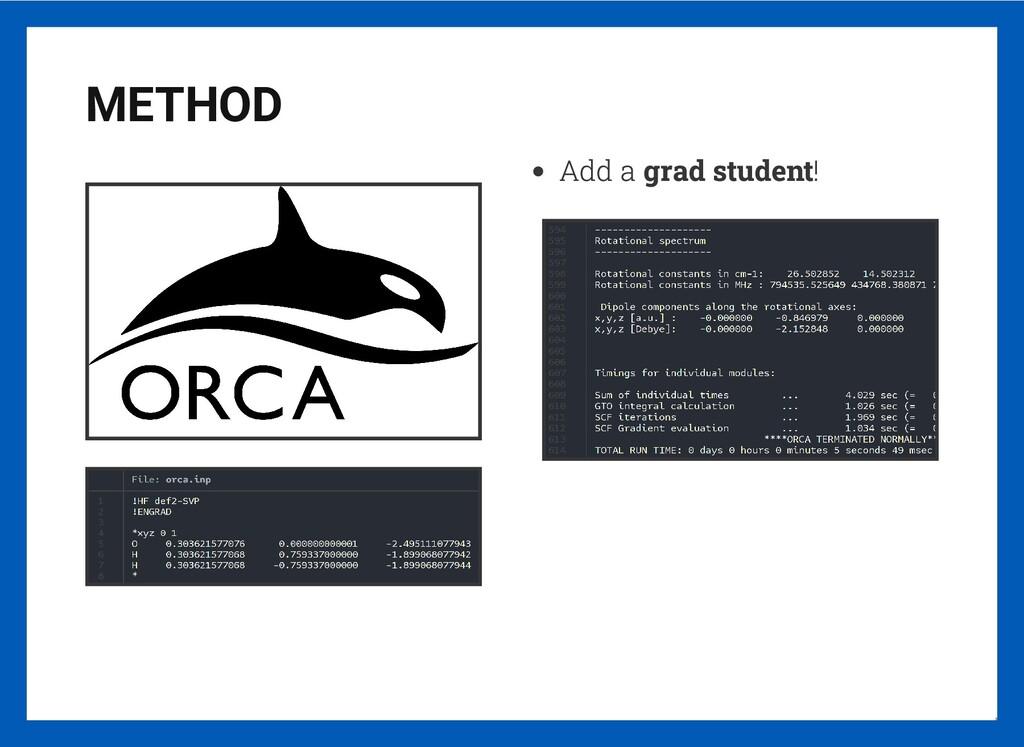 METHOD Add a grad student! 11