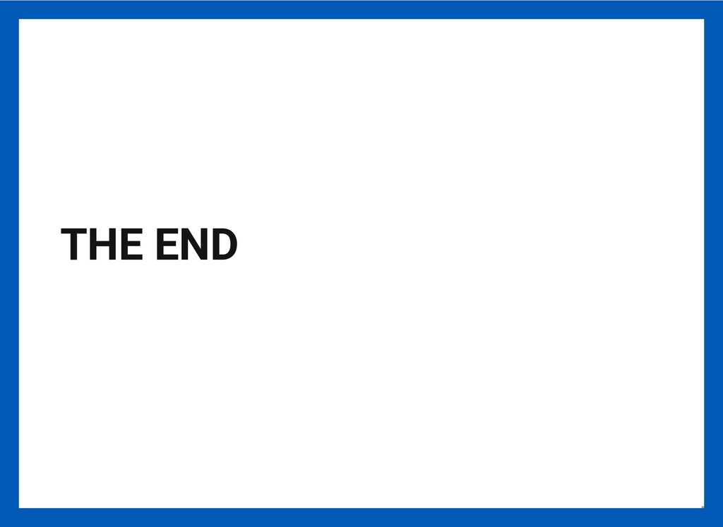 THE END 23