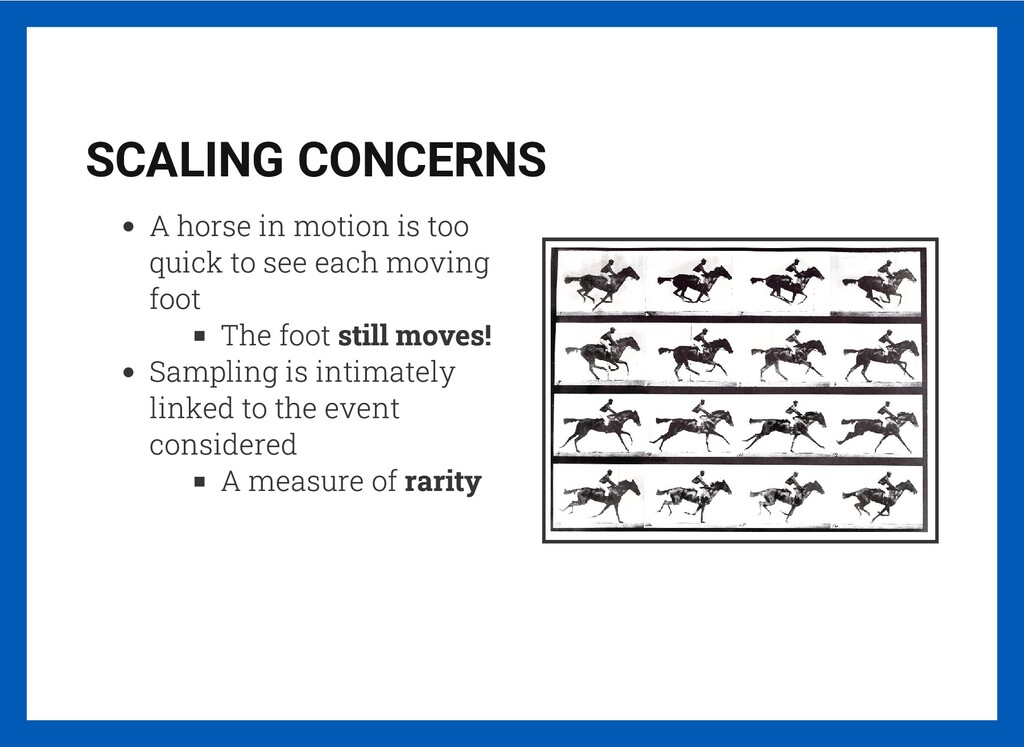 SCALING CONCERNS A horse in motion is too quick...