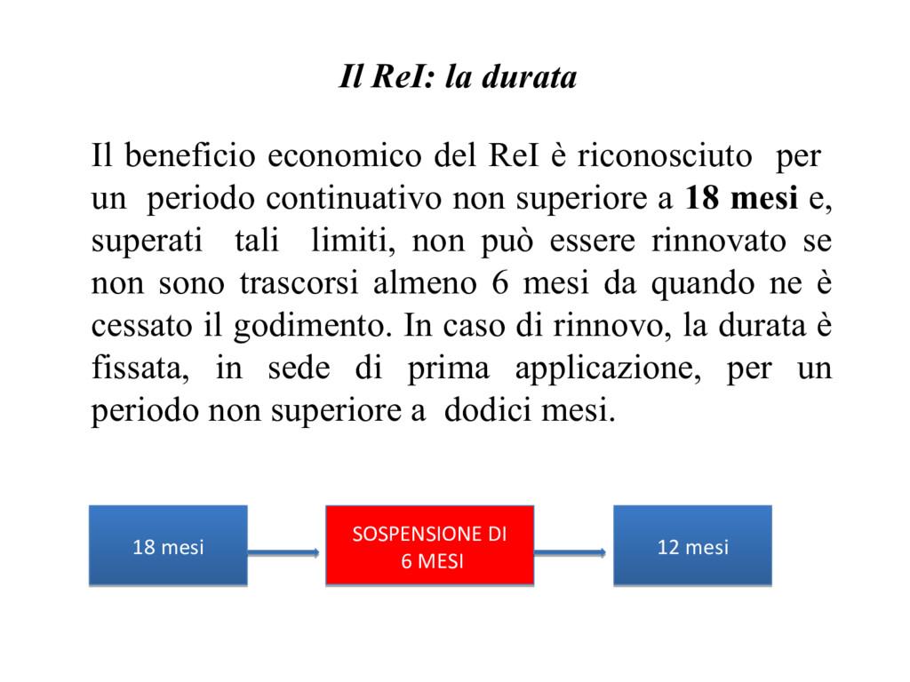 Il beneficio economico del ReI è riconosciuto p...