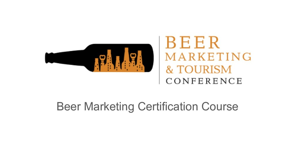 Beer Marketing Certification Course