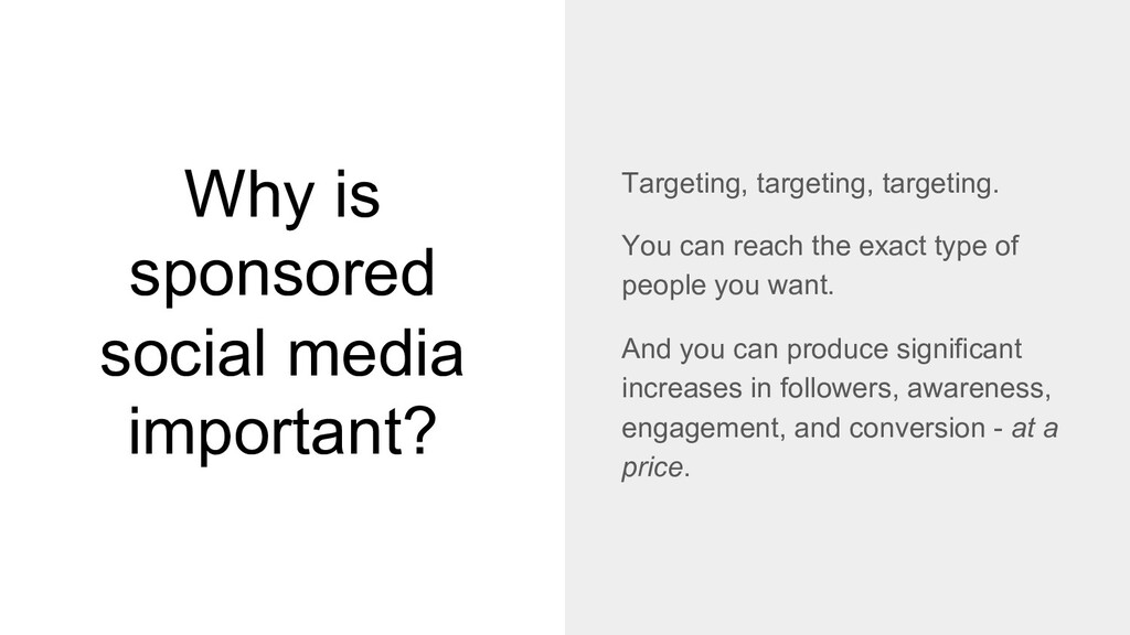 Why is sponsored social media important? Target...