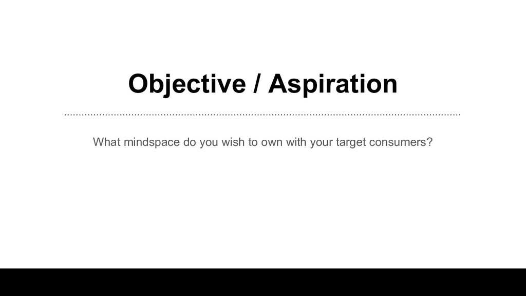 Objective / Aspiration What mindspace do you wi...