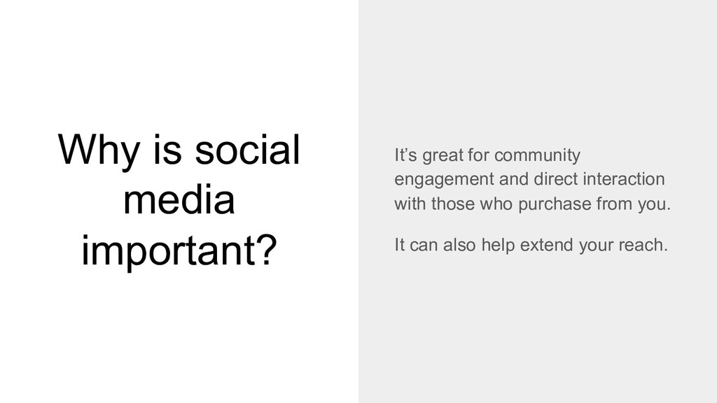Why is social media important? It's great for c...