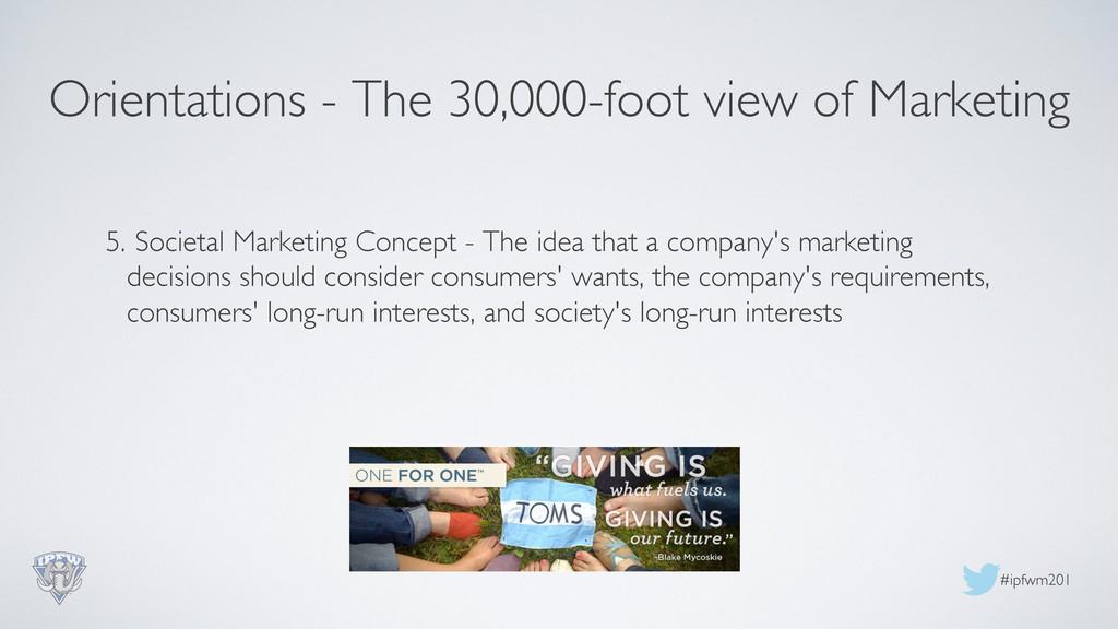 #ipfwm201  5. Societal Marketing Concept - T...