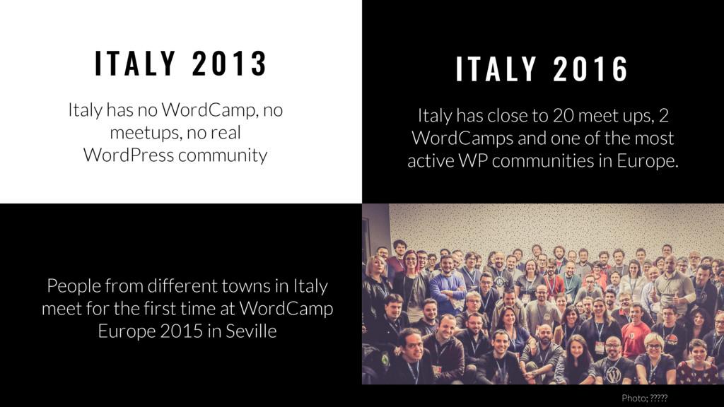 27 I TA LY 2 01 6 Italy has close to 20 meet up...