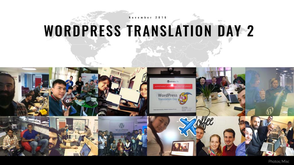 37 WORDPRESS TRANSLATION DAY 2 N o v e m b e r ...