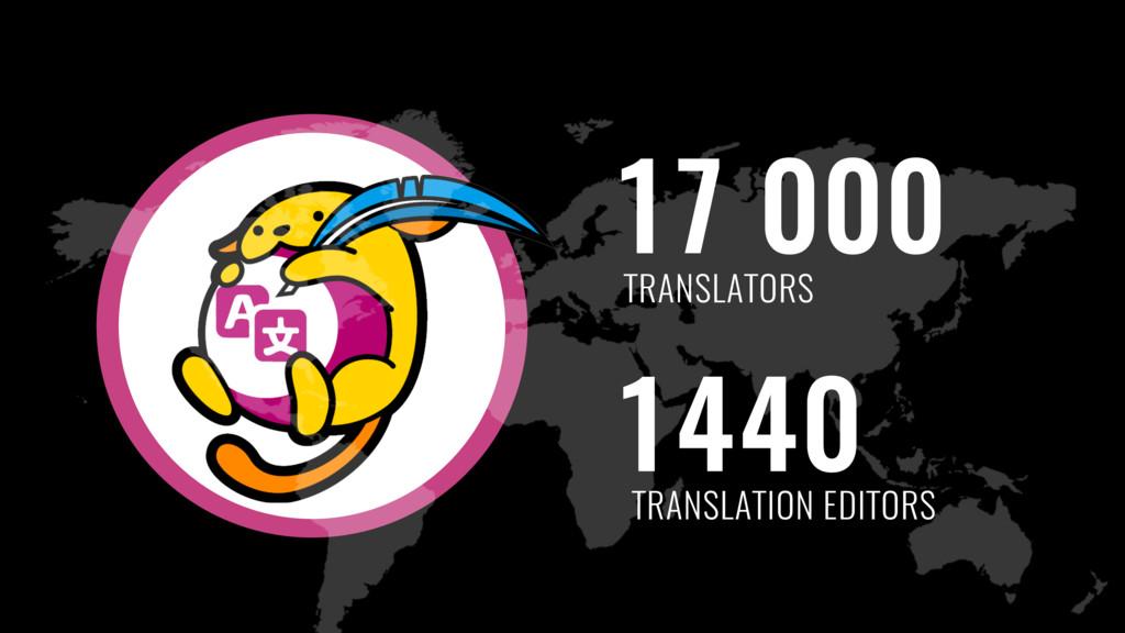 17 000 1440 TRANSLATORS TRANSLATION EDITORS