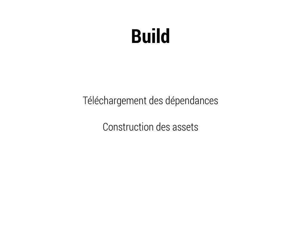 Téléchargement des dépendances Construction des...