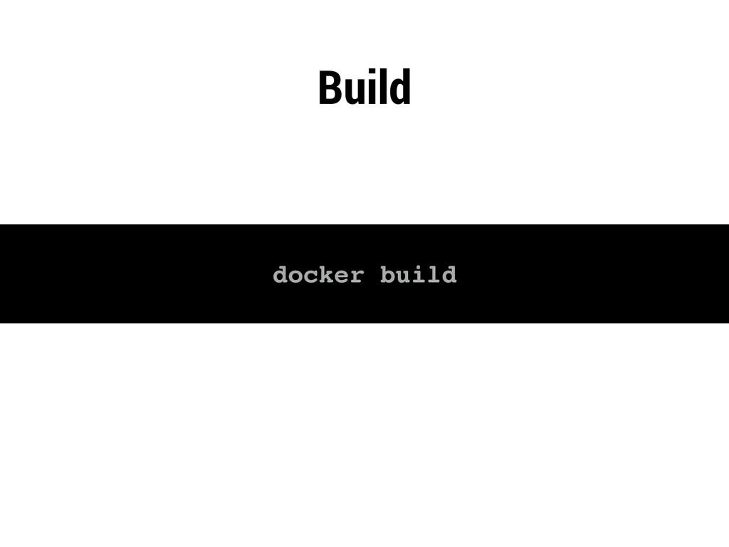 Build docker build