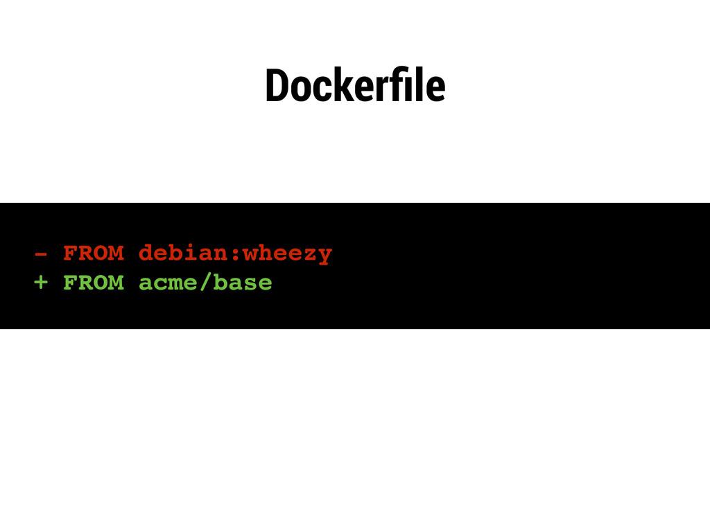 - FROM debian:wheezy + FROM acme/base Dockerfile