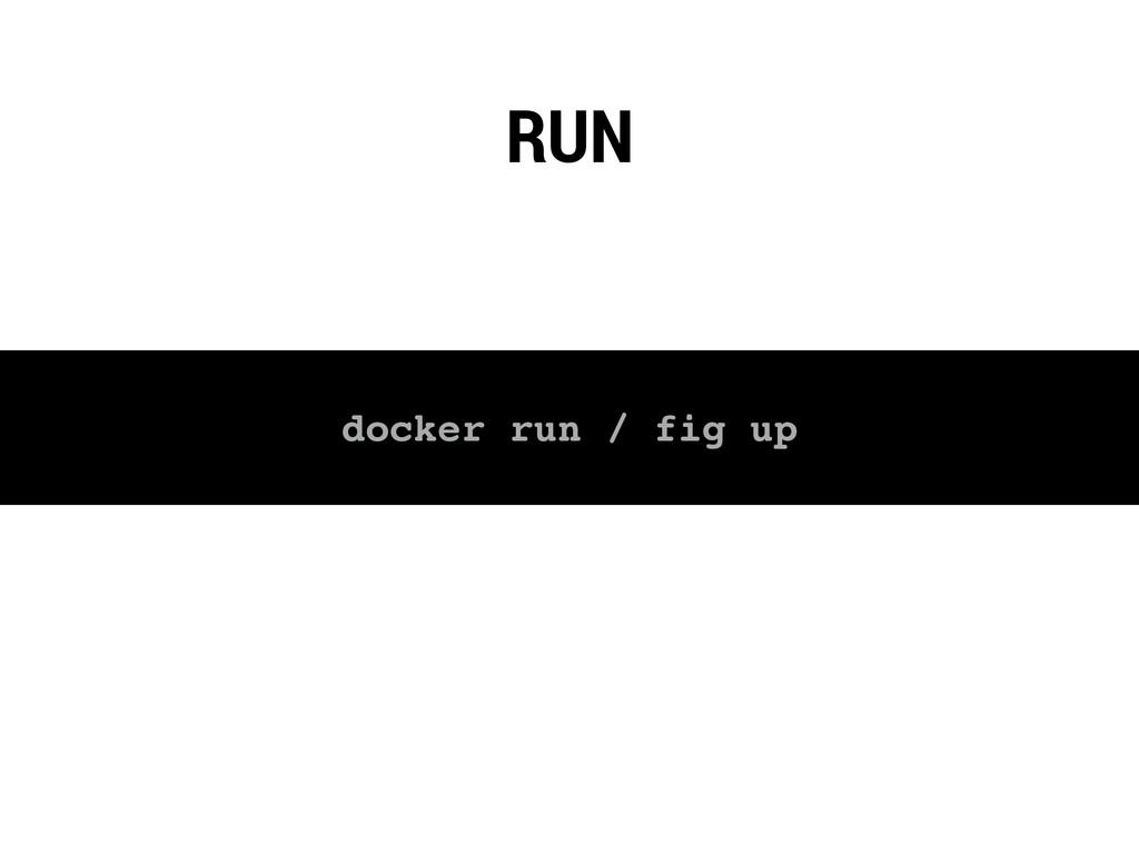 RUN docker run / fig up