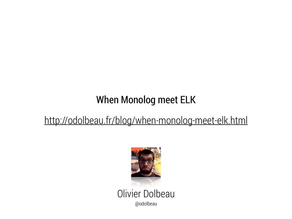 Olivier Dolbeau @odolbeau http://odolbeau.fr/bl...
