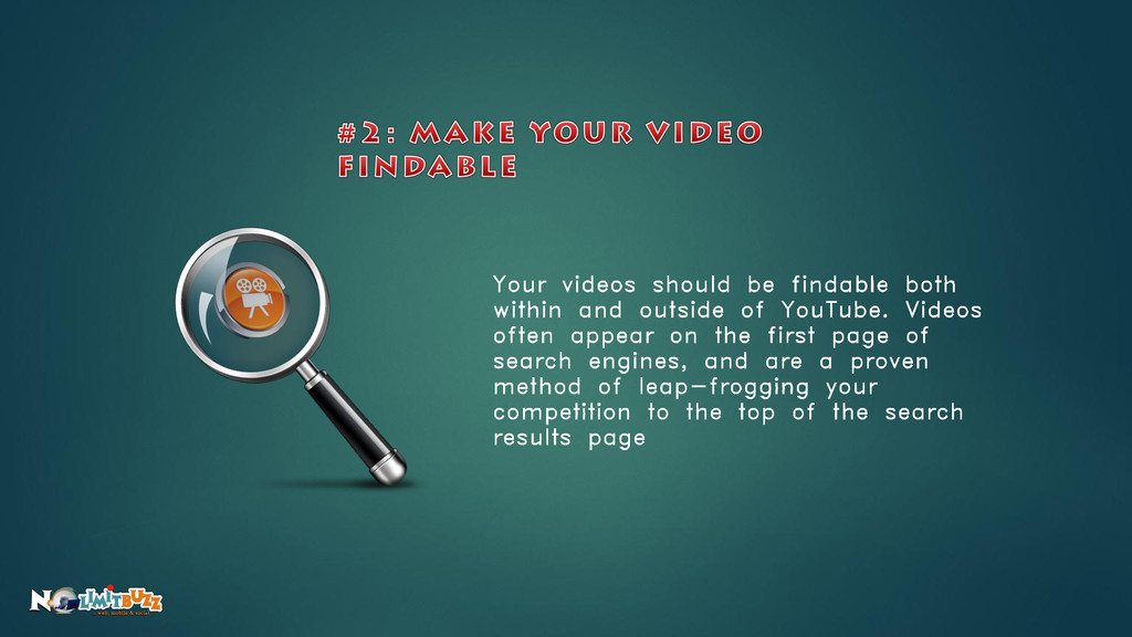 Your videos should be findable both within and ...