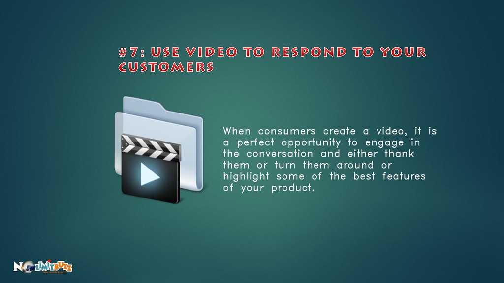 When consumers create a video, it is a perfect ...