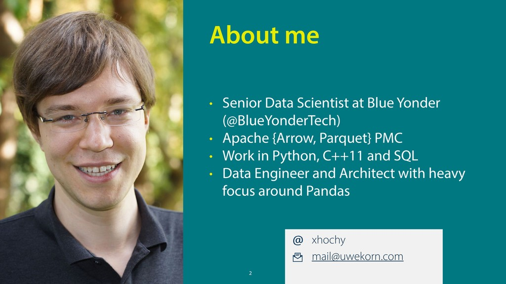 2 • Senior Data Scientist at Blue Yonder (@Blue...