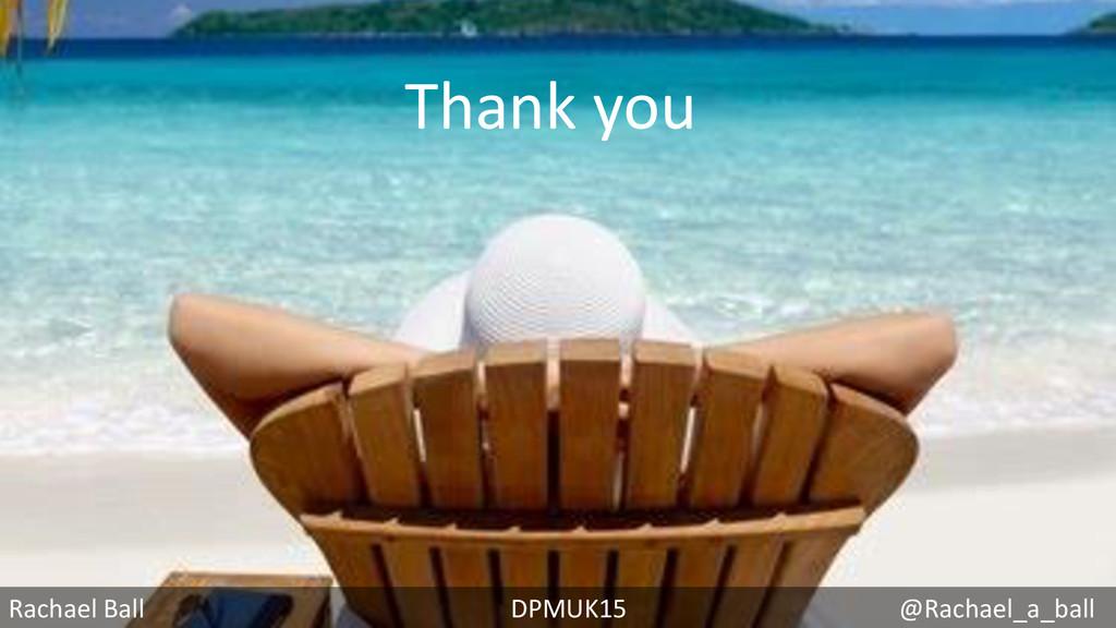 Rachael Ball DPMUK15 @Rachael_a_ball Thank you
