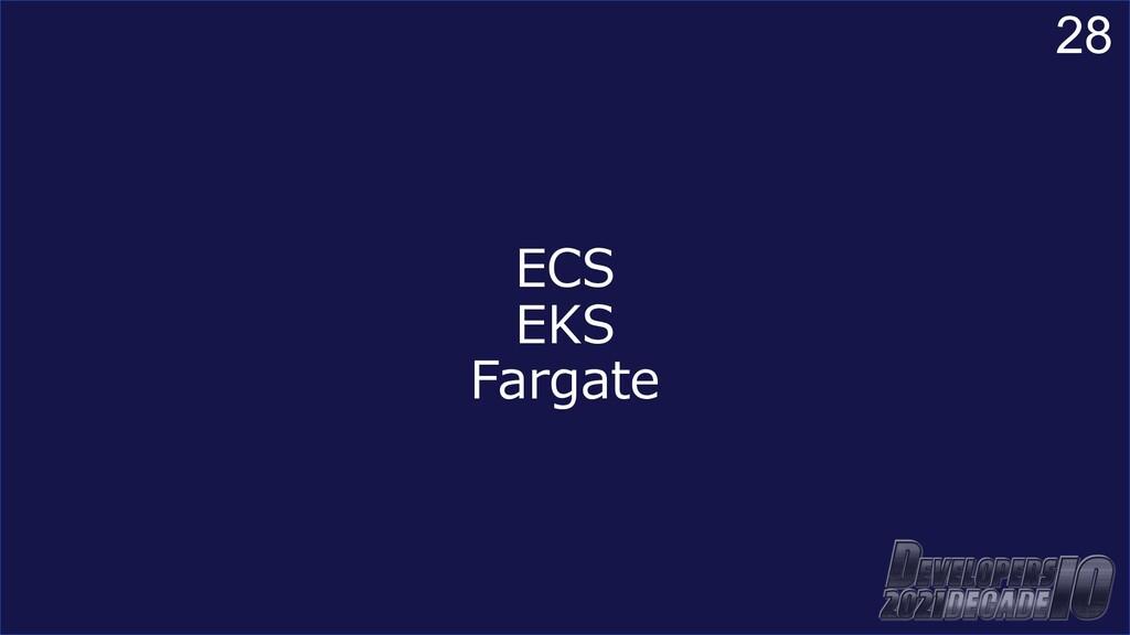28 ECS EKS Fargate